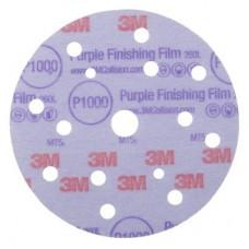 3М 51157 Супертонкий абразивный полировальный диск Hoоkit серия Purple 260L, конфигурация LD861A, диам. 150 мм, Р1000