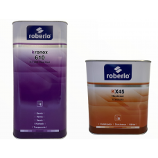 ROBERLO Акриловый Лак KRONOX 610 UHS 2:1, 5л + отвердитель KX45, 2,5 (комплект)