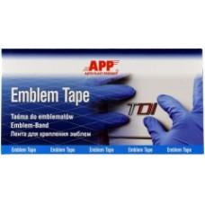 APP 040920 пленка для крепления эмблем  APP Emblem Tape (100 мм х 200 мм), 5 листков