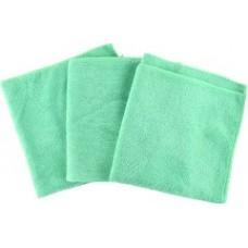 APP 080648 Салфетка беспыльная из микрофибры MF Clothe (40 см*40 см) - зеленая ( 3 шт)